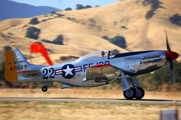 Photograph - P51 Merlin's Magic On Take-off Roll by John King