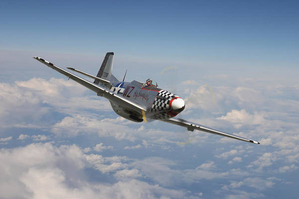 War Eagle Photograph - P51 Mustang - Big Beautiful Doll by Pat Speirs