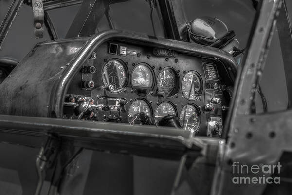 Photograph - P51 Mustang Cockpit by Dale Powell
