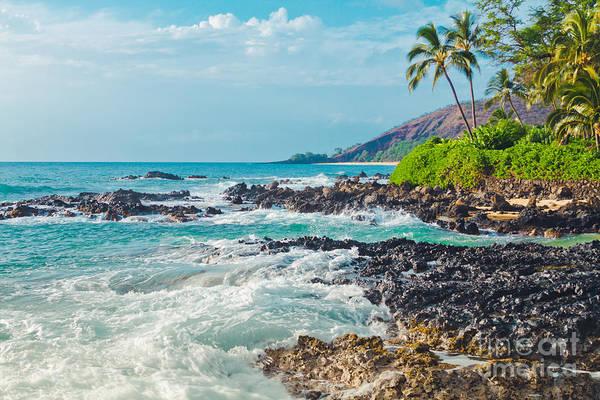 Photograph - Paako Beach Blue Sensation by Sharon Mau