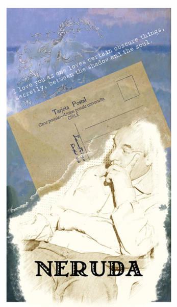 Reader Digital Art - Pablo Neruda By The Sea Tarot Special Edition by Two Sylvias Press
