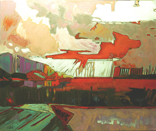 Painting - Pacific 20 Red by Rob Owen