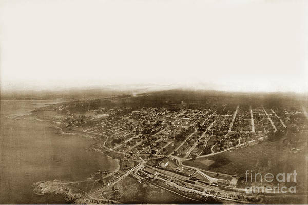 Pacific Grove 1200 From Feet Above Lovers Point And Monterey Bay 1906 Art Print