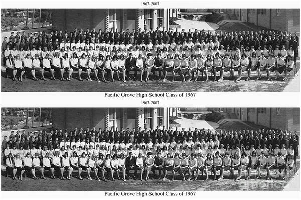 Photograph - Pacific Grove California  High School  Class Of 1967 by California Views Archives Mr Pat Hathaway Archives