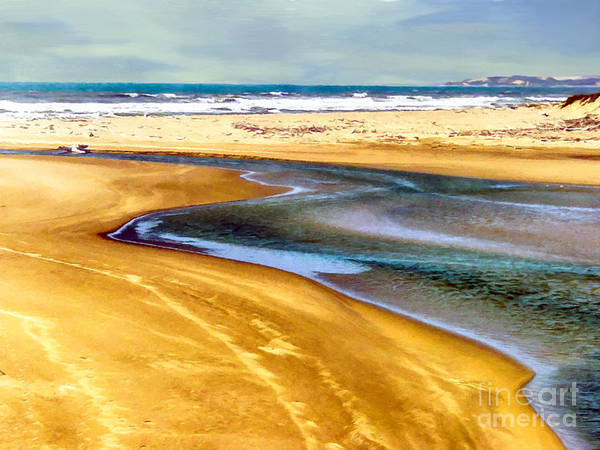 Pacific Ocean Beach Santa Barbara Art Print
