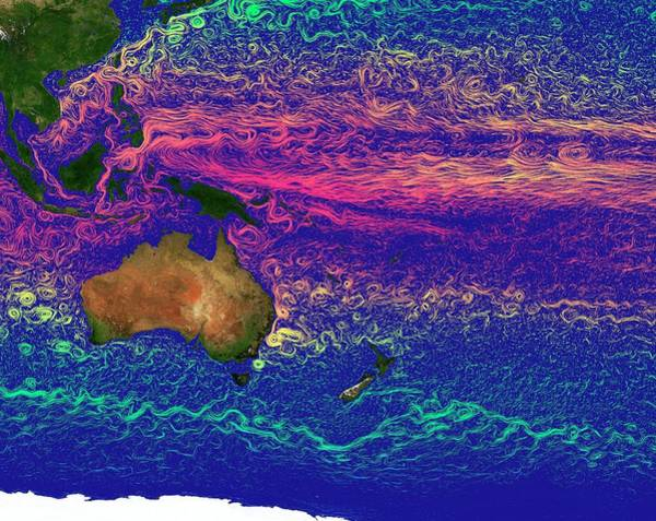 Current Photograph - Pacific Ocean Currents by Karsten Schneider/science Photo Library