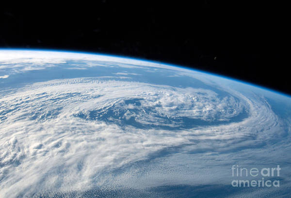 Wall Art - Photograph - Pacific Ocean Cyclone From Iss by Science Source