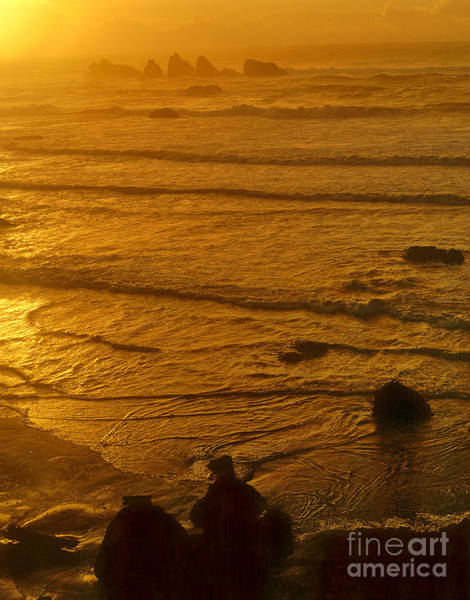 Photograph - Pacific Ocean Sunset Bandon Beach Oregon by Dave Welling