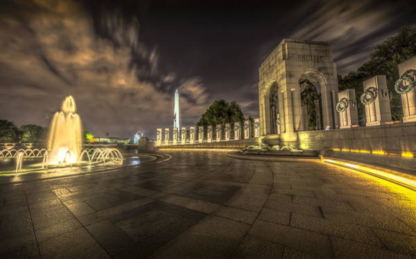 Photograph - Pacific Side Of The World War II Memorial by David Morefield