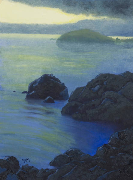 Eureka Painting - Pacific Sunset Northern California  by Garry McMichael