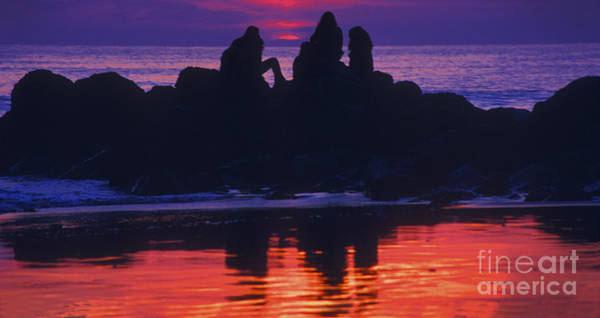 Photograph - Pacific Sunset With Friends by Paul W Faust -  Impressions of Light