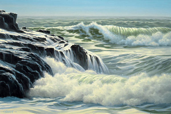 Surf Painting - Pacific Surf by Paul Krapf