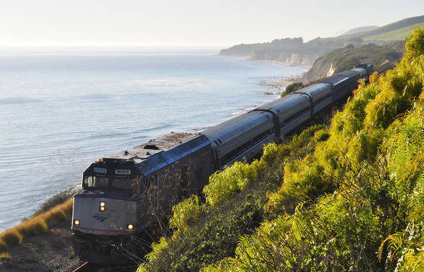 Art Print featuring the photograph Pacific Surfliner Along The Central Coast by Kyle Hanson