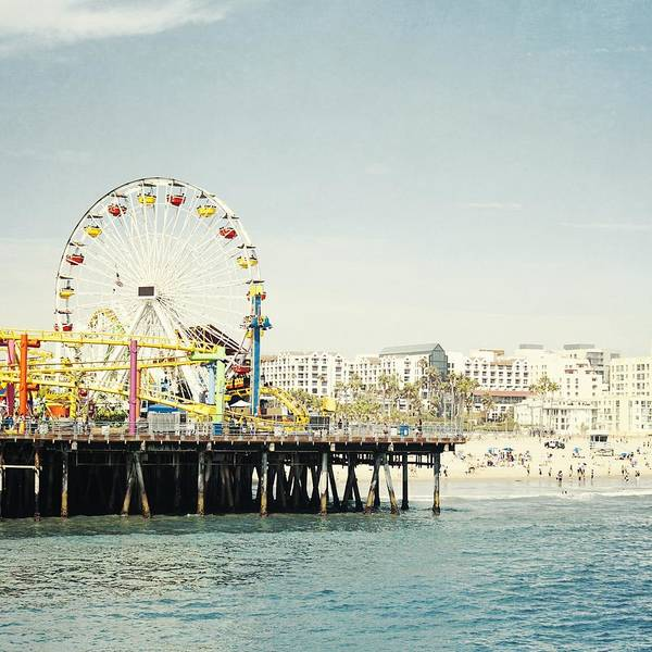 Los Angeles California Photograph - Pacific Wheel  by Bree Madden