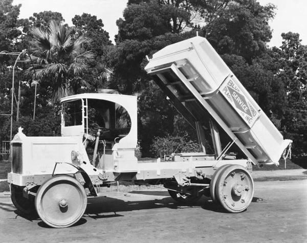 Dump Truck Photograph - Packard Dump Truck by Underwood Archives