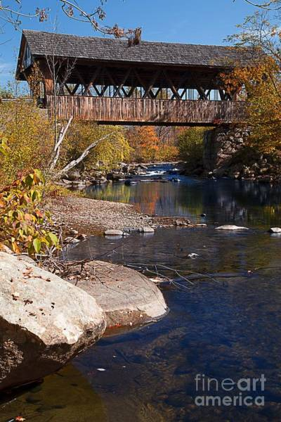 Photograph - Packard Hill Bridge Lebanon New Hampshire by Edward Fielding