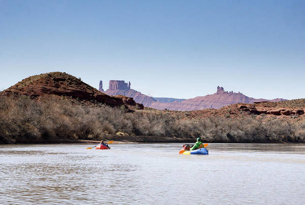 Wall Art - Photograph - Packrafting The Colorado River by Brent Olson