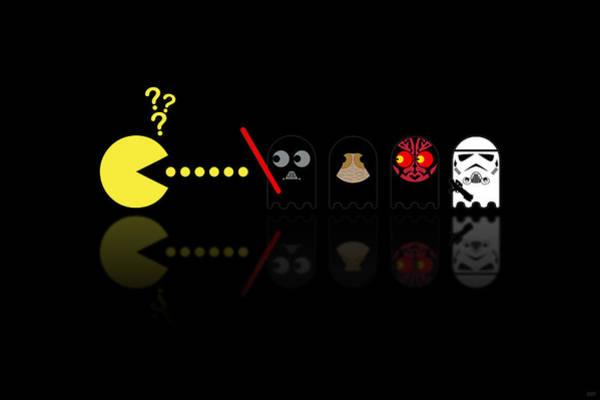 Pacman Star Wars - 2 Art Print