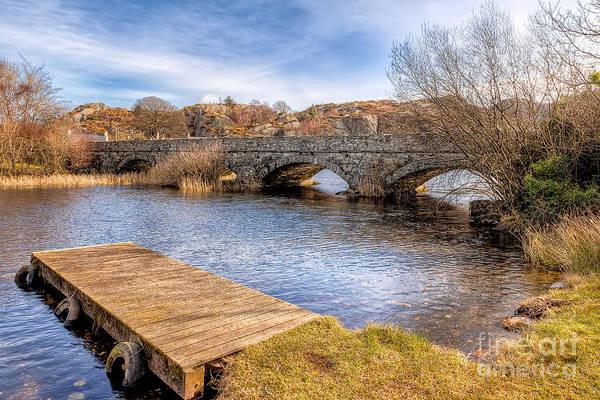 Pier Digital Art - Padarn Bridge by Adrian Evans