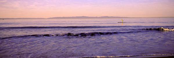Santa Rosa Photograph - Paddle-boarder In Sea, Santa Rosa by Panoramic Images