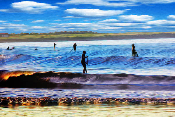 Wall Art - Photograph - Paddle Boarding At Second Beach Newport Ri by Richard Trahan