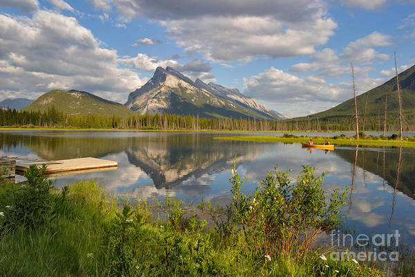 Photograph - Paddling The Vermillion Lakes by Charles Kozierok