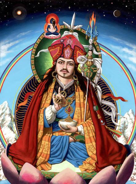 Guru Painting - Padmasambhava by Jonathan Weber