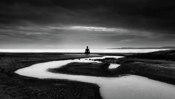 Silhouette Photograph - Padmasana by George Digalakis