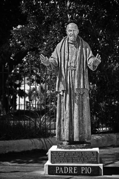 Pio Photograph - Padre Pio - St Louis Cemetery No3 New Orleans by Christine Till