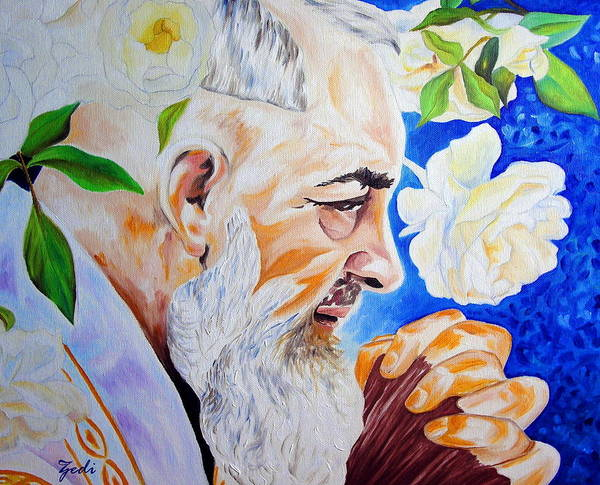 Padre Pio Wall Art - Painting - Padre Pio by Ze  Di