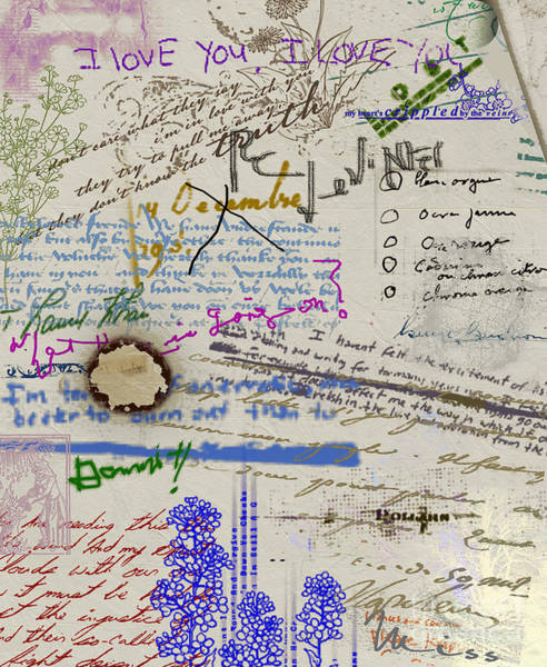 Painting - Page From The Madwoman's Notebook by RC DeWinter