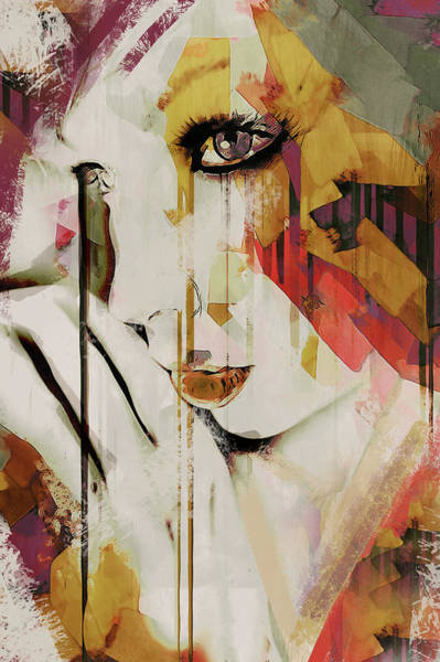 Digital Art - Pages Abstract Portrait by Galen Valle