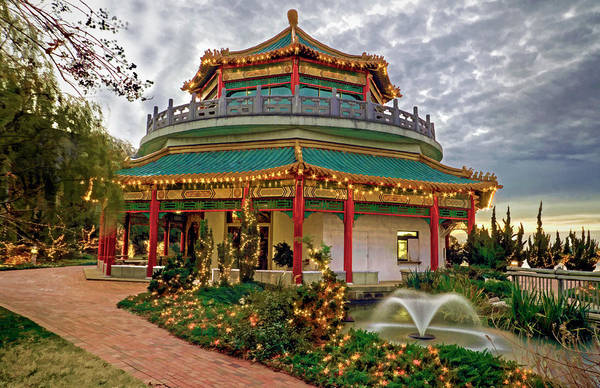 Photograph - Pagoda In Norfolk Virginia by Jerry Gammon