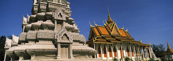 Phnom Penh Wall Art - Photograph - Pagoda Near A Palace, Silver Pagoda by Panoramic Images