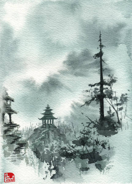Painting - Pagoda Valley by Sean Seal
