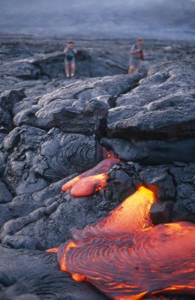 Photograph - Pahoehoe Lava, Kilauea, Hawaii by Stephen & Donna O'Meara