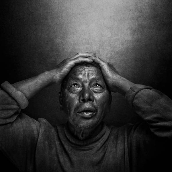 Sad Photograph - Pain by Fadhel Almutaghawi