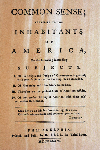 Photograph - Paine: Common Sense, 1776 by Granger