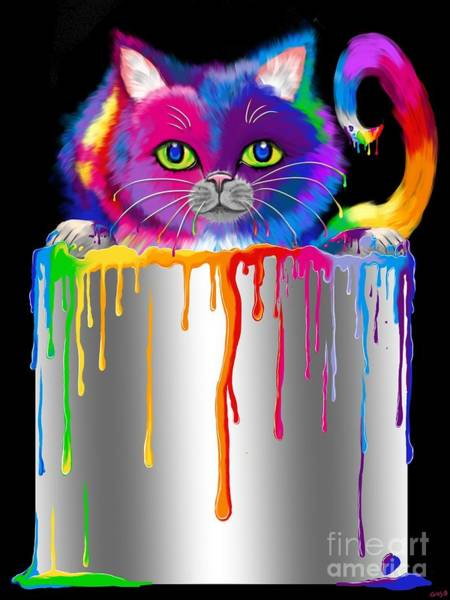 Wall Art - Painting - Paint Can Cat by Nick Gustafson