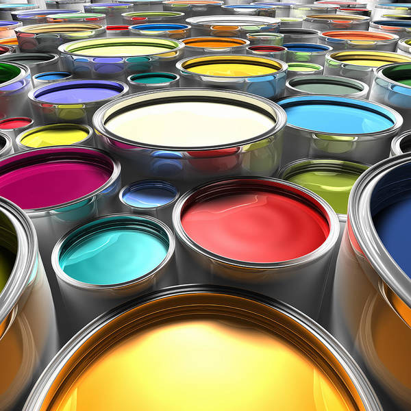 Paint Cans With Open Lids (digital) Art Print by Ian McKinnell