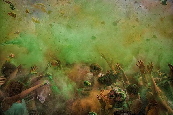 Colour Photograph - Paint Fight by