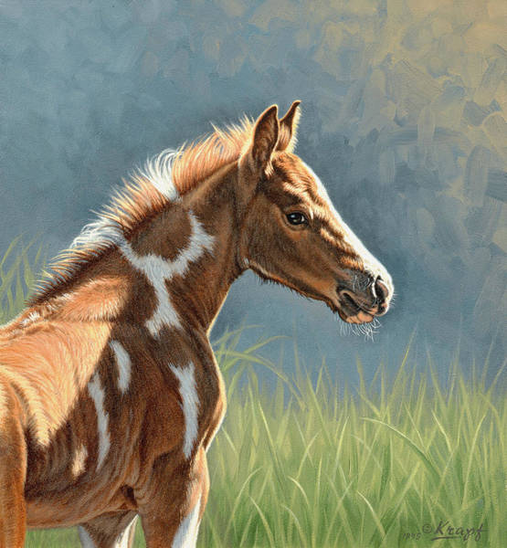 Foal Wall Art - Painting - Paint Filly by Paul Krapf
