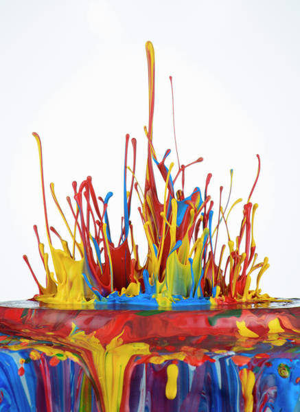 Messy Photograph - Paint, Jumping Off A Surface by Don Farrall