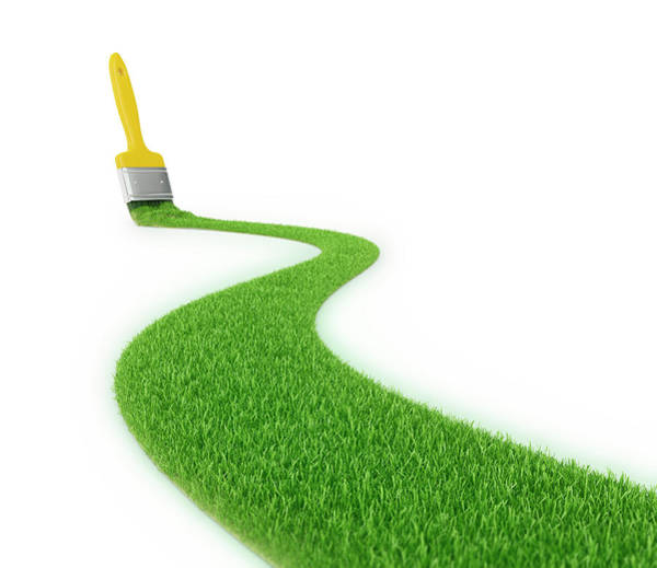 Wall Art - Photograph - Paintbrush And Green Grass by Andrzej Wojcicki/science Photo Library