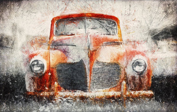 Vehicles Photograph - Painted 1940 Desoto Deluxe by Scott Norris