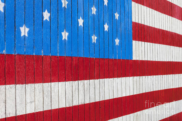 Photograph - Painted American Flag by Bryan Mullennix