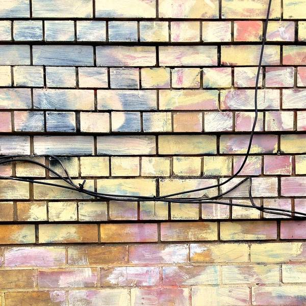 Wall Art - Photograph - Painted Brick by Julie Gebhardt
