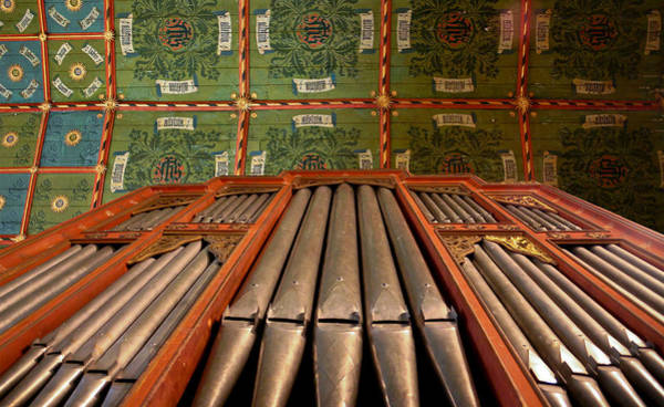 Photograph - Painted Ceiling In English Church by Jenny Setchell