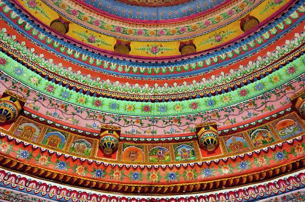 Shree Wall Art - Photograph - Painted Ceiling Of Shree Laxmi Narihan by Inger Hogstrom