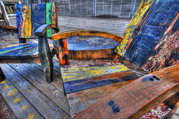 Digital Art - Painted Chairs 1 by Michael Thomas